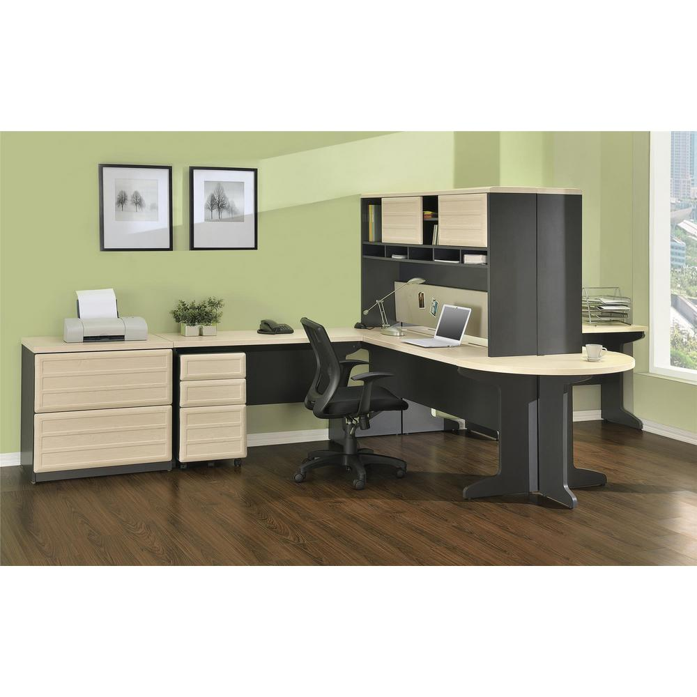 Pursuit Natural and Gray File Cabinet