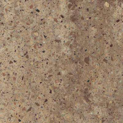 2 in. x 2 in. Solid Surface Countertop Sample in Desert Pass