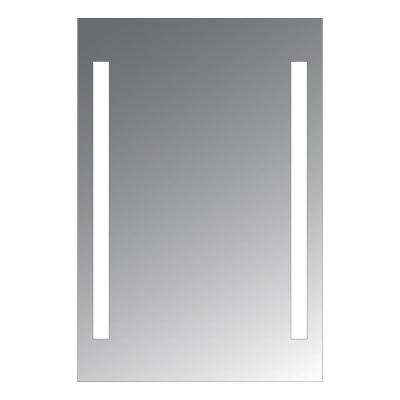 Alex 20 in. x 24 in. LED Lighted Mirror with Frost Stripes