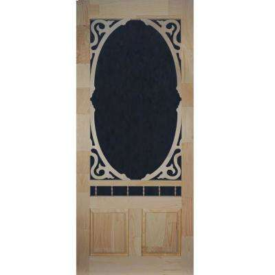 36 in. x 80 in. Clarington Unfinished Wood Screen Door