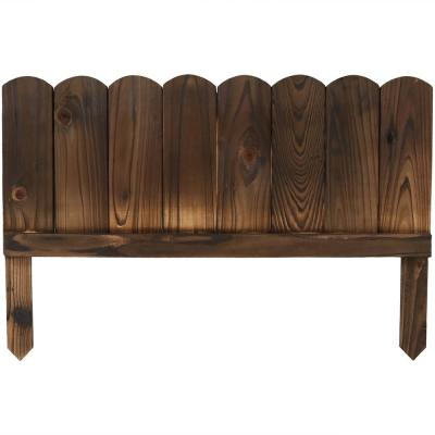 Rustic 22 in. L x 15 in. H Wood Garden Fence (5-Pack)