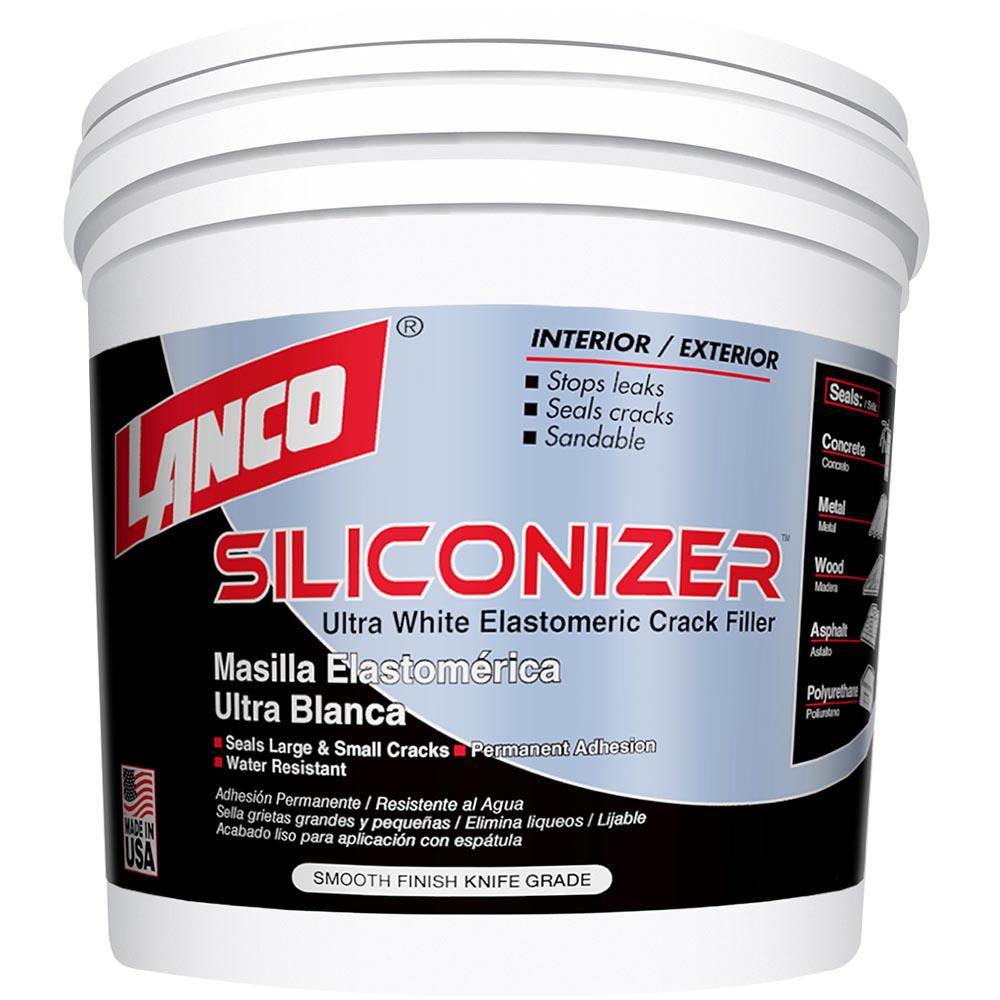 Lanco 1 4 Gal Siliconizer White Elastomeric Crack Filler