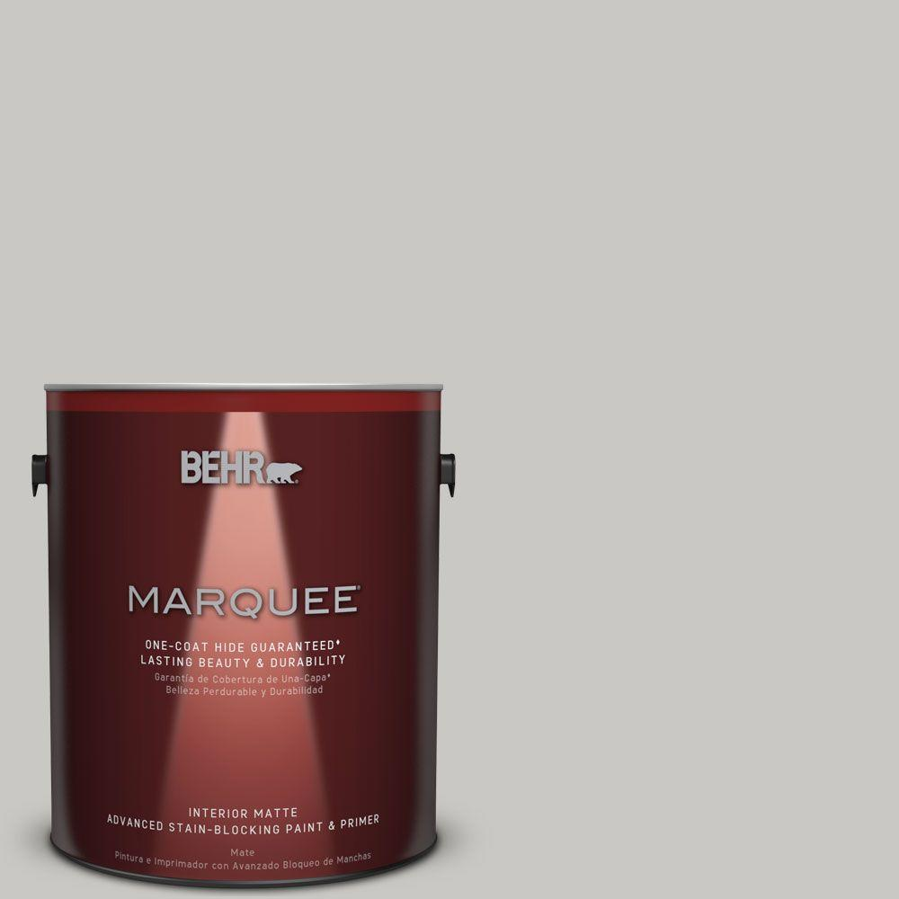 1 gal. #MQ2-59 Silver City Matte One-Coat Hide Interior Paint and