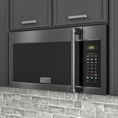 ZLINE 1.5 cu. ft. Over the Range Microwave Oven in Black Stainless Steel with Modern Handle