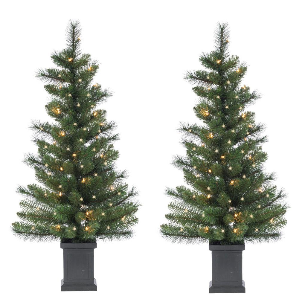 50 Foot Christmas Tree: Sterling 3.5 Ft. Potted Hard Mixed Needle Sycamore Spruce