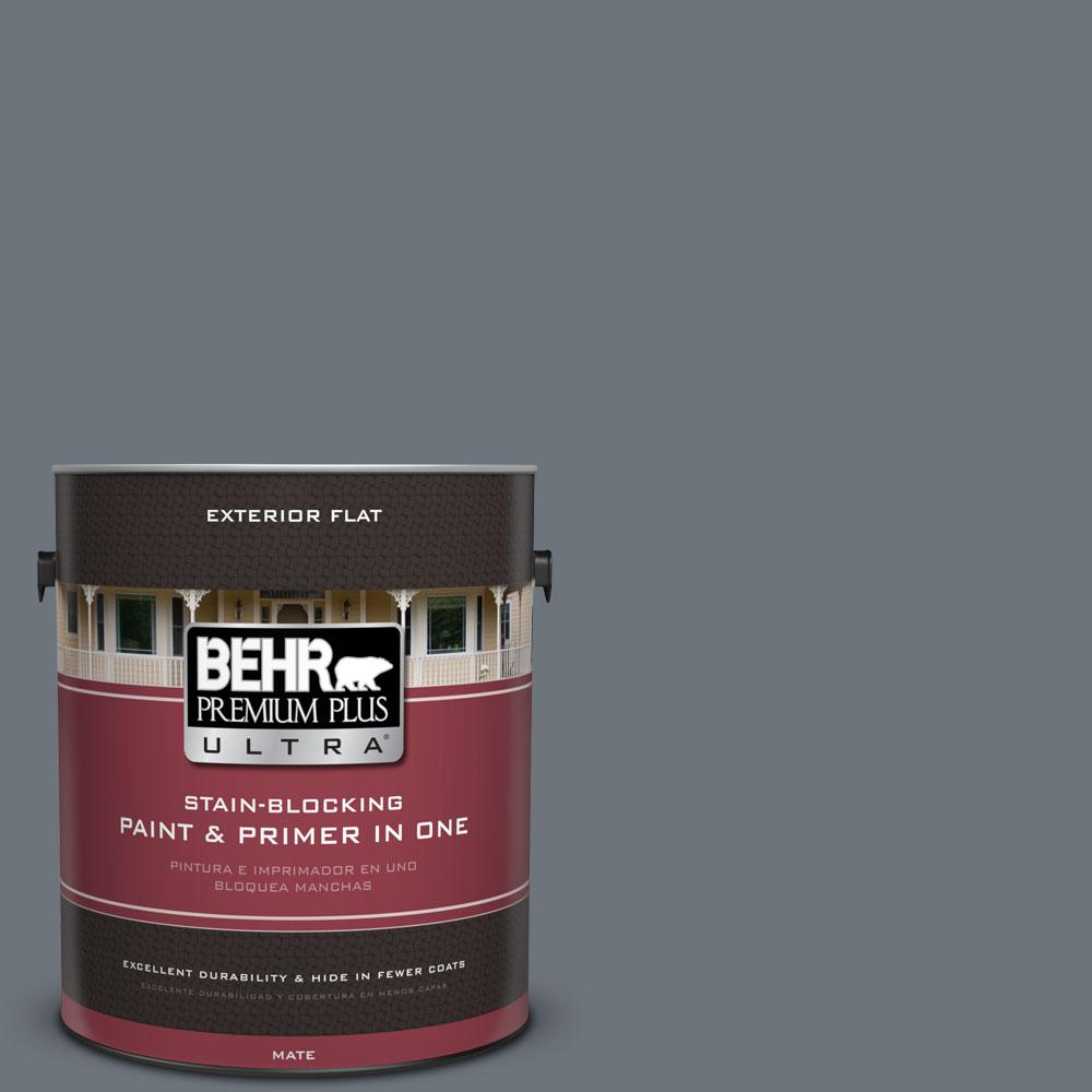 1-gal. #750F-5 Silver Hill Flat Exterior Paint