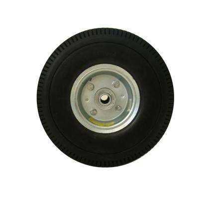 10 in. Flat Free Replacement Wheel
