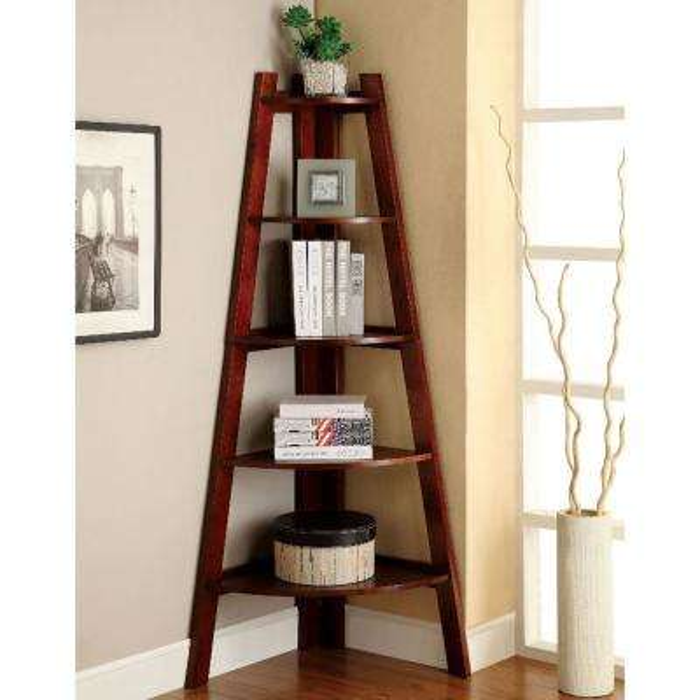 Lyss Cherry Ladder Bookshelf
