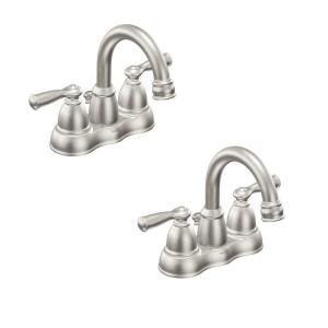 Moen Banbury 4 In Centerset 2 Handle Bathroom Faucet In