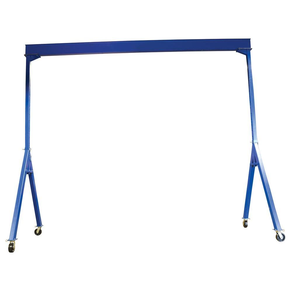 Vestil 8,000 lb. Capacity Adjustable Height Steel Gantry Crane