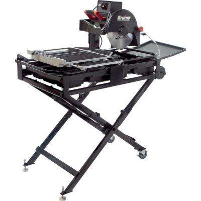 24 in. Professional Tile Saw with 10 in. Diamond Blade and Stand