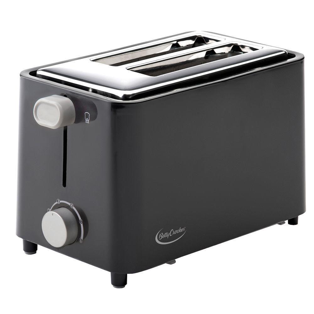 Betty Crocker 2-Slice Black Toaster by Betty Crocker