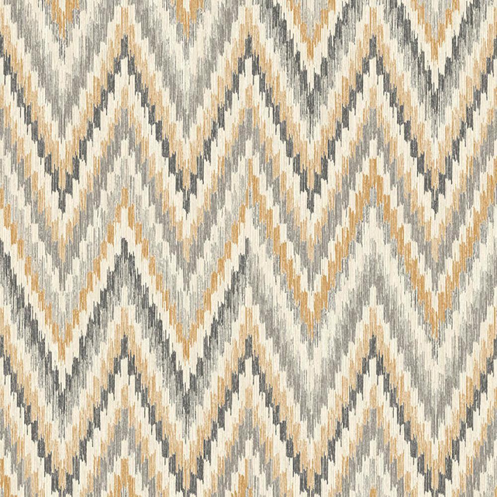 Pleasing Metallic Static Zigzag Abstract Brown And Orange Wallpaper Interior Design Ideas Skatsoteloinfo
