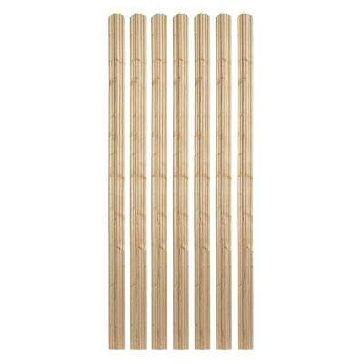 1 in. x 4 in. x 6 ft. Moulded Spruce Dog Ear Fence Picket (7-Pack)