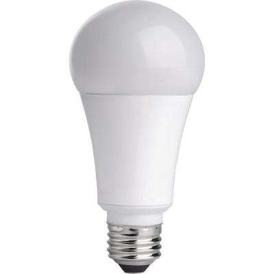 75W Equivalent Soft White A19 Dimmable CEC LED Light Bulb (2-Pack)