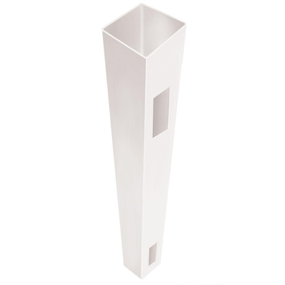 Veranda 5 in. x 5 in. x 7 ft. White Vinyl Fence End/Gate Post (B)