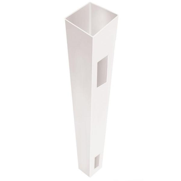 5 in. x 5 in. x 7 ft. White Vinyl Fence End/Gate Post (B)