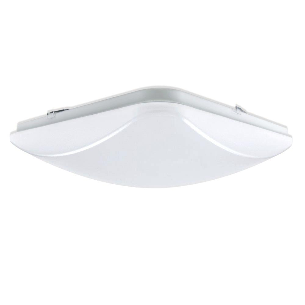 Envirolite 14 in white led square ceiling flushmount ev1014s wh white led square ceiling flushmount aloadofball Choice Image