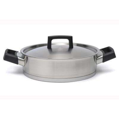 Ron 10 in. Stainless Steel Deep Skillet with Lid