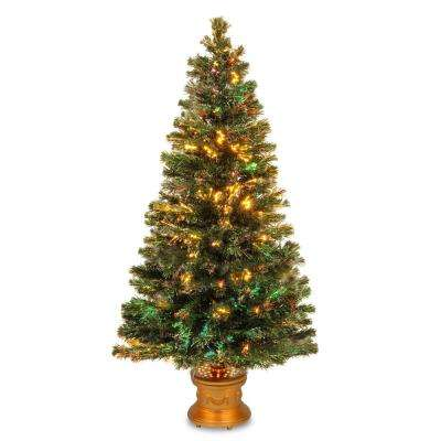 5 ft. Fiber Optic Fireworks Evergreen Artificial Christmas Tree
