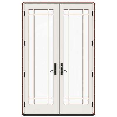 60 In X 96 W 4500 Contemporary Red Clad Wood Left