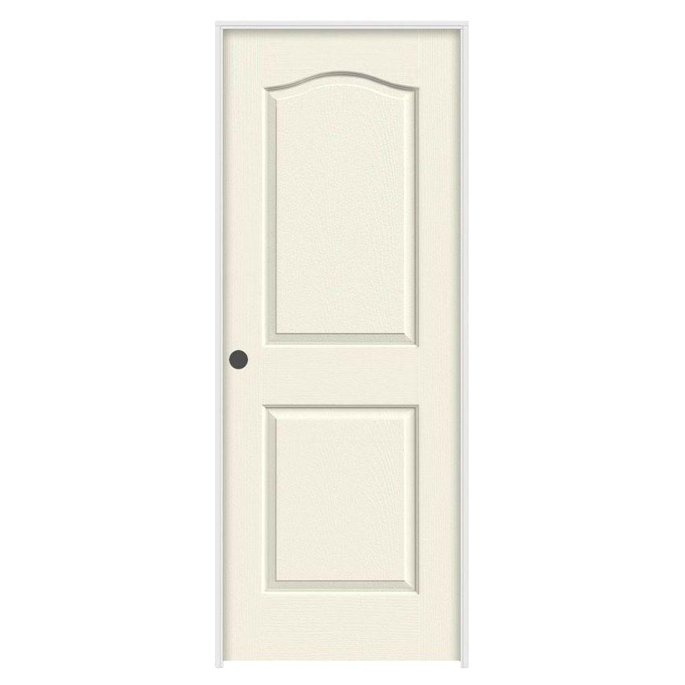 36 in. x 80 in. Princeton Vanilla Painted Right-Hand Smooth Solid