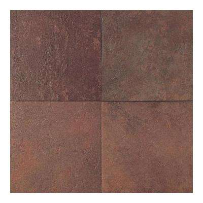 Continental Slate Indian Red 18 In X Porcelain Floor And Wall Tile