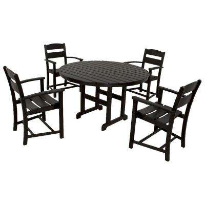 Classics Black 5-Piece Plastic Outdoor Patio Dining Set