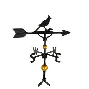 32 in. Deluxe Black Cardinal Weathervane