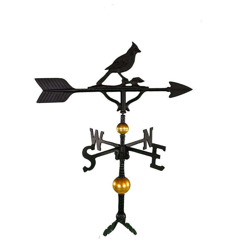 32 in. Deluxe Black Cardinal Weathervane