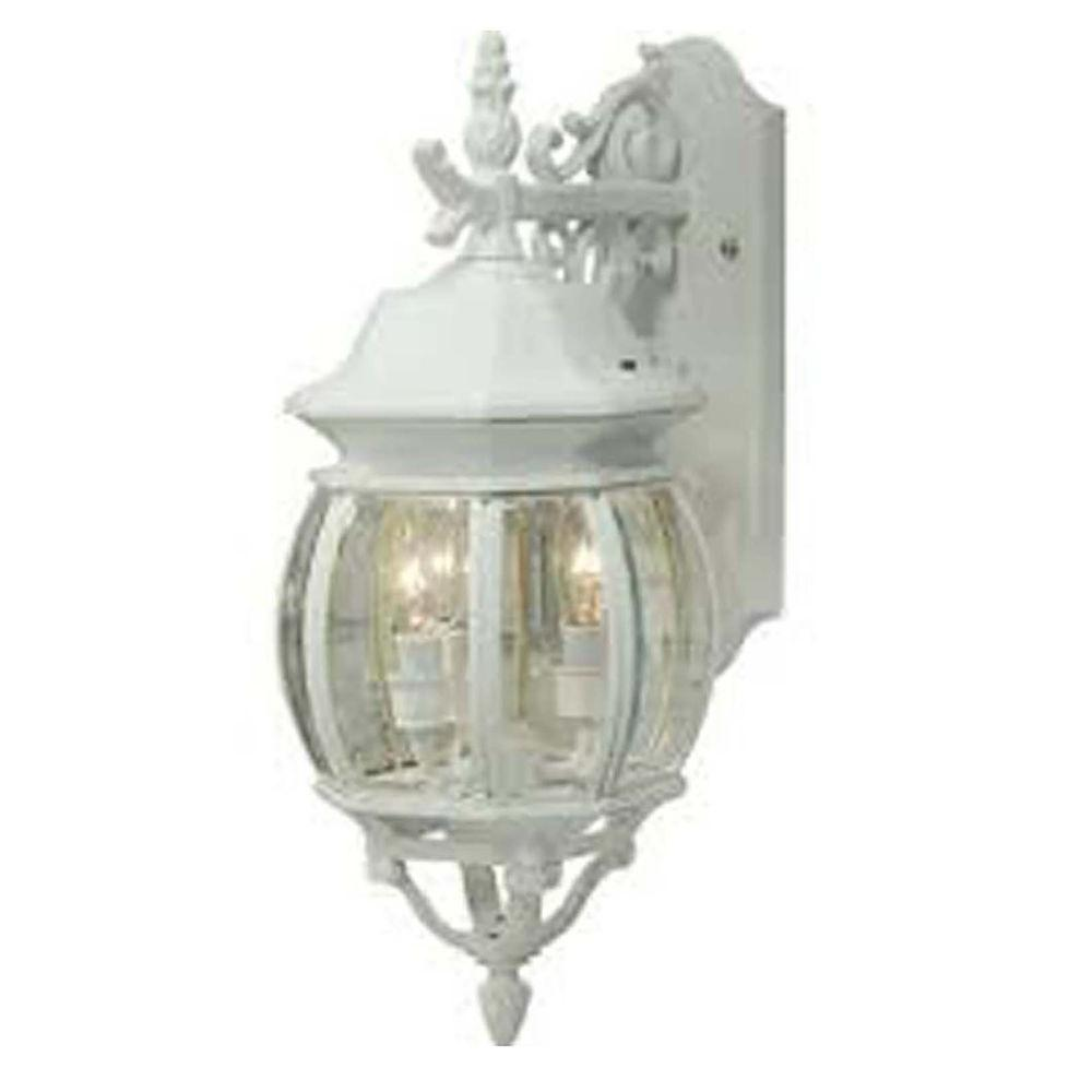 ARTCRAFT 4-Light White Outdoor Wall Lantern Sconce