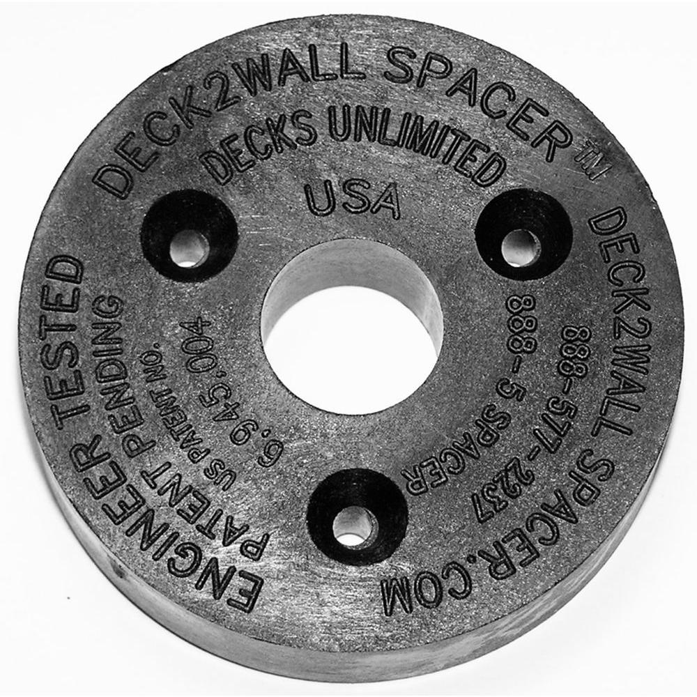 Deck2Wall Spacer Black Polypropylene Spacer 2-1/2 in. Diameter 5/8 in. Thick 50 Per Bag