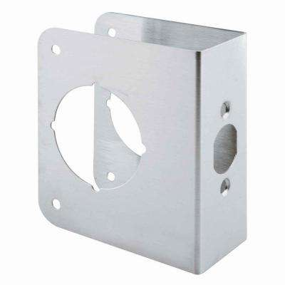2-3/8 in. x 1-3/4 in. Stainless-Steel Lock and Door Reinforcer