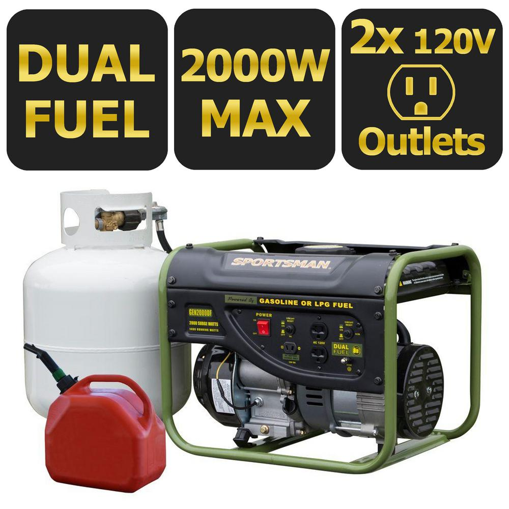 Sportsman 2000 1400 Watt Dual Fuel Powered Portable Generator With Wiring In A Home Together Runs On Lpg Or