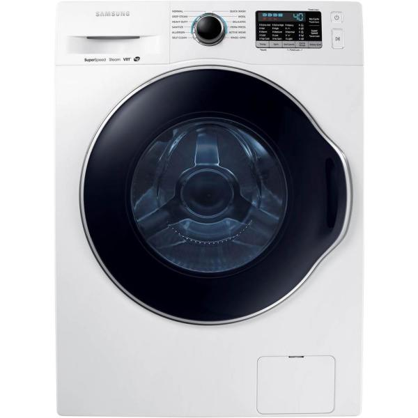 24 in. 2.2 DOE cu. ft. High Efficiency Front Load Washer with Steam in White, ENERGY STAR