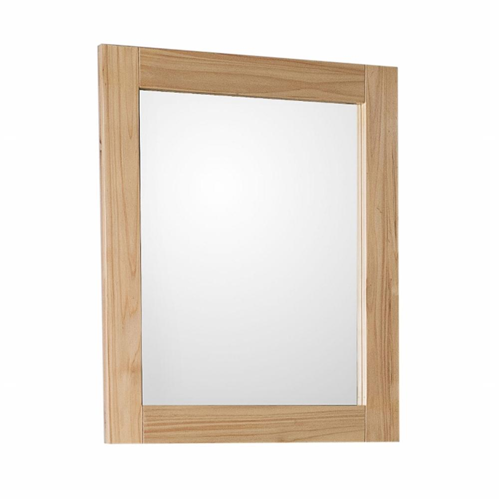 Bellaterra Home Umbria 24 in. x 28 in. Rectangular Single Framed Wall Mirror in Natural