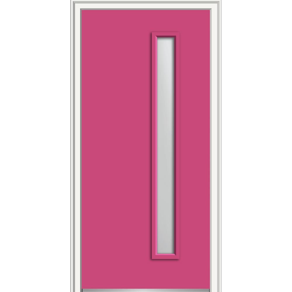 Mmi door 36 in x 80 in viola frosted glass left hand 1 for 16x80 door