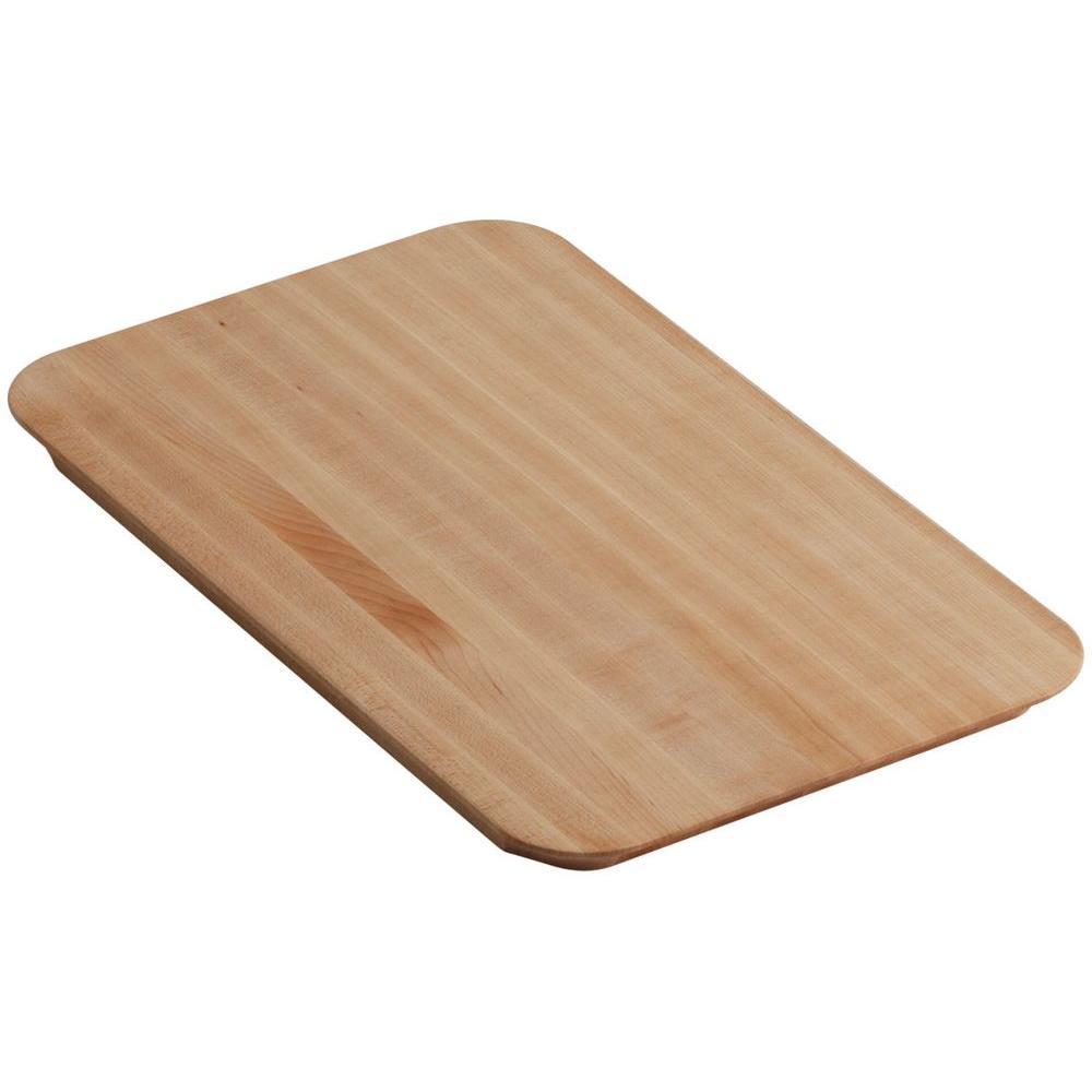 Kohler Riverby 10.5 inch x 17.375 inch Cutting Board in Maple Wood by KOHLER