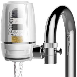 ISPRING LittleWell Faucet Mount Water Filter with Multi-Layer Filtration by ISPRING
