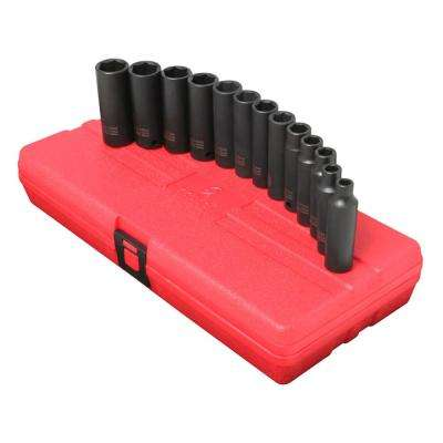 3/8 in. Drive Deep Impact Socket Set (13-Piece)
