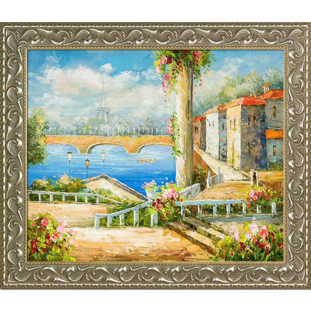 LA PASTICHE Resort Near The Eiffel with Rococo Silverby Unknown Artists Oil Painting, Multi-Colored was $976.0 now $425.06 (56.0% off)
