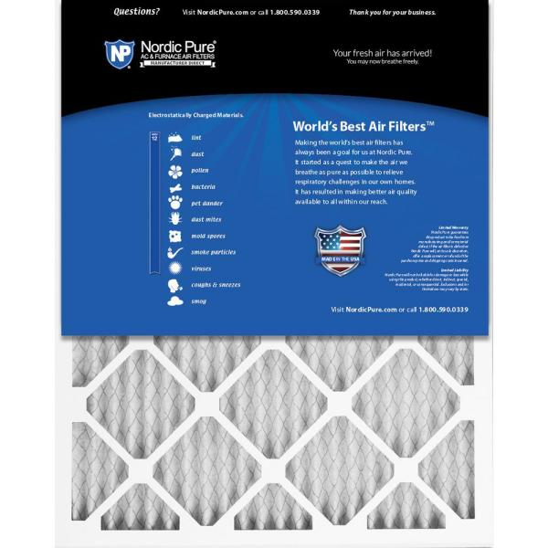 Nordic Pure 18x36x1 Exact MERV 8 Pleated AC Furnace Air Filters 3 Pack