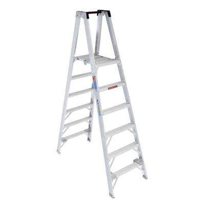 6 ft. Aluminum Platform Twin Step Ladder with 300 lb. Load Capacity Type IA Duty Rating