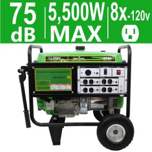 LIFAN Energy Storm 5,500-Watt 389cc 13 MHP Gasoline Powered Portable Generator by LIFAN