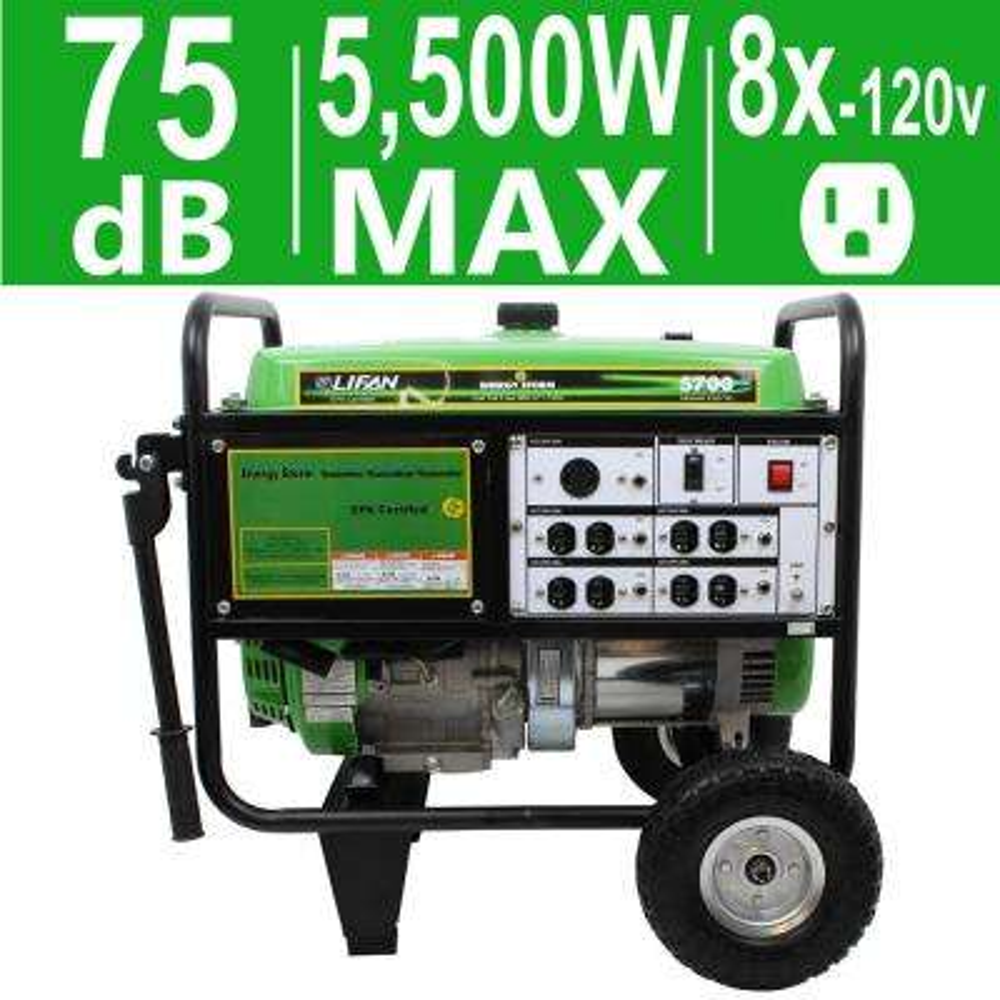 Energy Storm 5,700-Watt Gasoline Powered Portable Generator