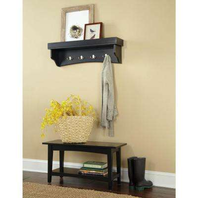 Shaker Cottage Charcoal Gray Hall Tree with Storage