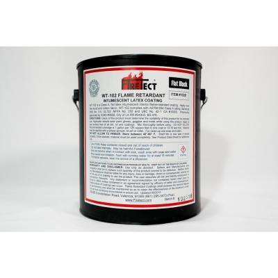 WT-102 1 gal. Black Flat Latex Intumescent Fireproofing Flame Retardant Paint Coating for Wood
