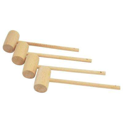 Wooden Crab Mallet (4-Pack)
