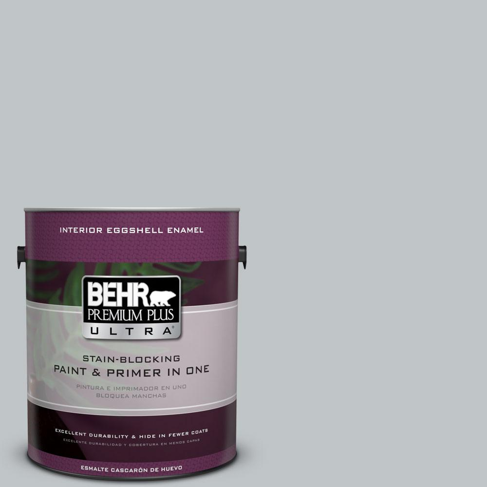 BEHR Premium Plus Ultra 1 gal. #N510-2 Galactic Tint Eggshell Enamel Interior Paint and Primer in One