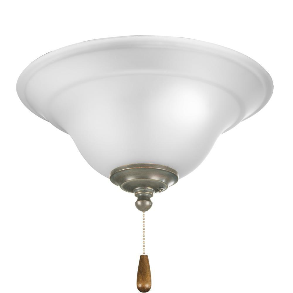 Progress Lighting Trinity Collection 3-Light Antique Bronze Ceiling Fan Light